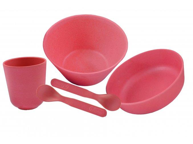 PB610:1 Bambusové nádobí velká sada Růžová