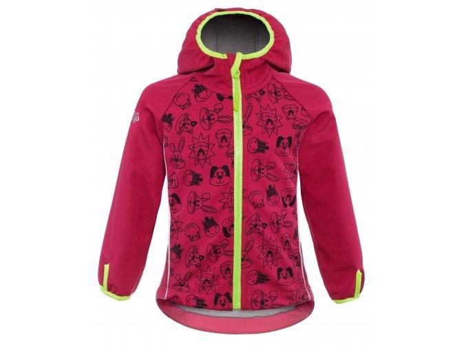 G2G03 good2go Softshellová bunda  růžová