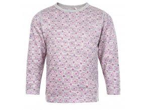 CeLaVi  - tričko  z merino vlny dl.rukáv  - šedá/ růžová