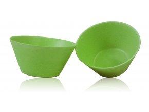 PB561:1 Bambusová miska velká 2 ks Zelená