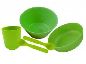 PB611:1 Bambusové nádobí velká sada Zelená