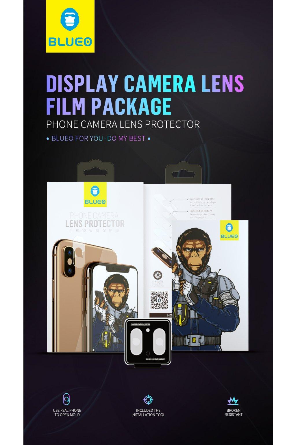 BLUEO HD Ochrana čočky fotoaparátu Gorilla Type (0,2 mm) iPhone XR NPB26-6.1