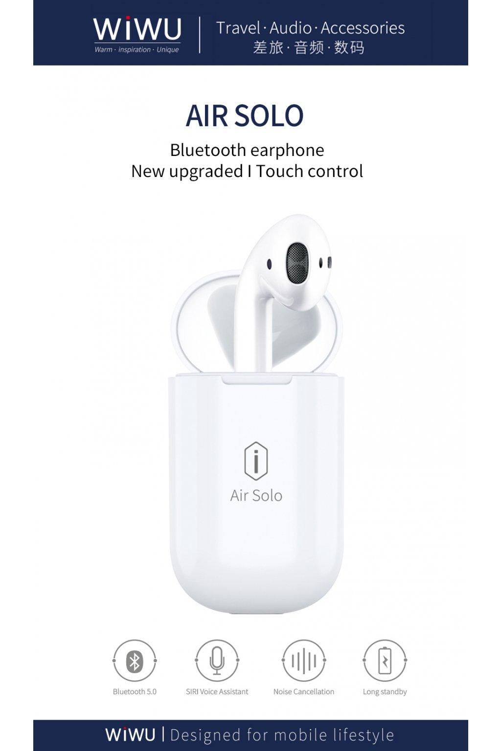 WiWU Bezdrátové sluchátko AirSolo Single