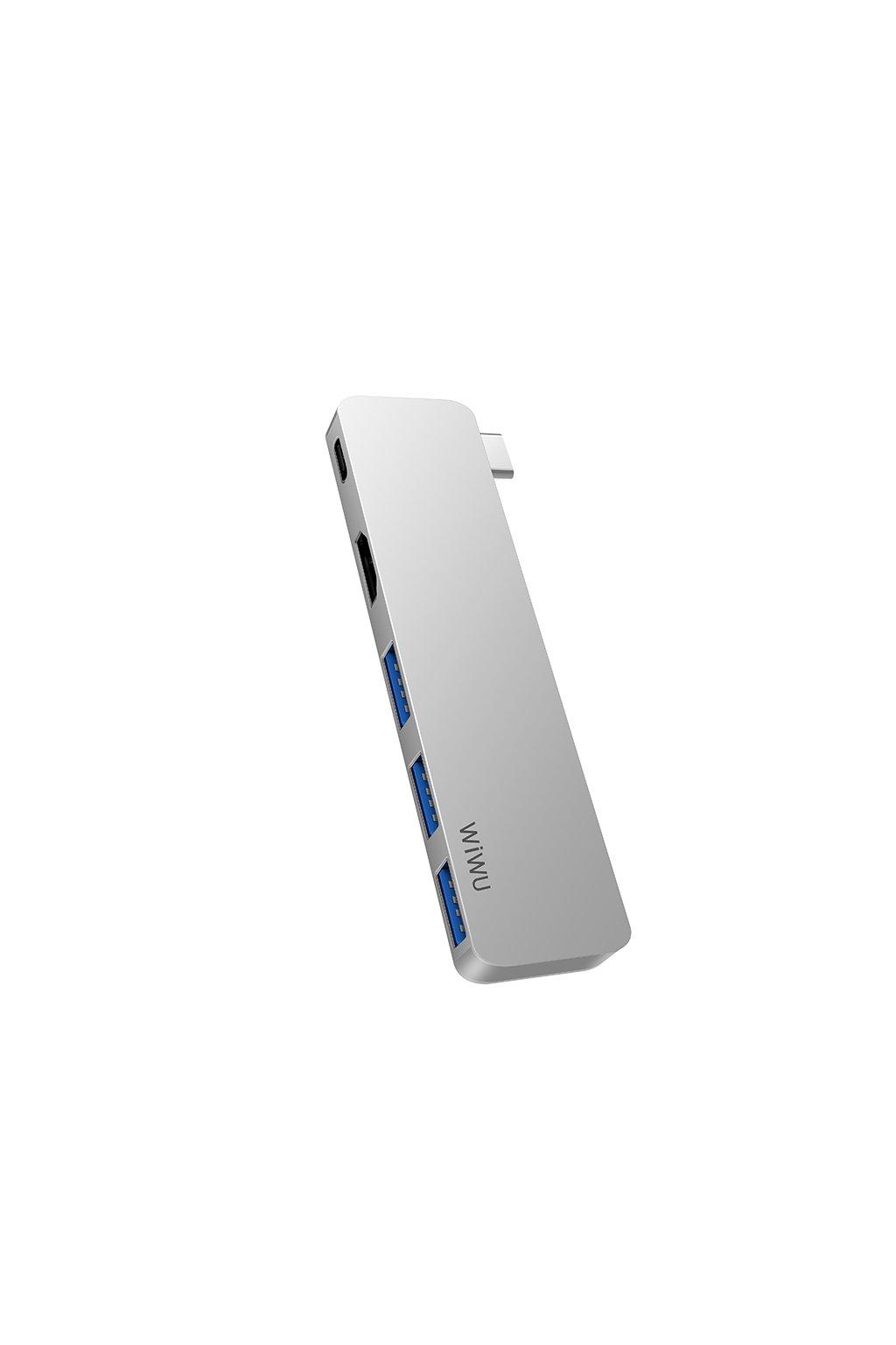 WiWU USB-C multi-port hub pro USB/USB-C/HDMI T6 Pro 5v1