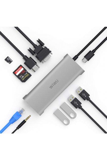 WiWU USB-C multi-port hub a rozbočovač 11v1 Alpha