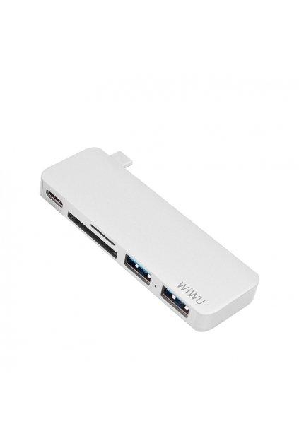 WiWU USB-C multi-port hub pro USB/USB-C/SDHC/microSDHC T6 5v1