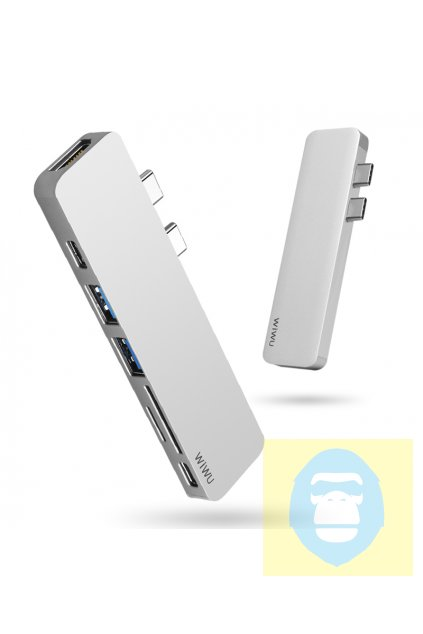 WiWU USB-C multi-port hub pro USB/USB-C/HDMI/SD/microSD T8 Dual 7v1