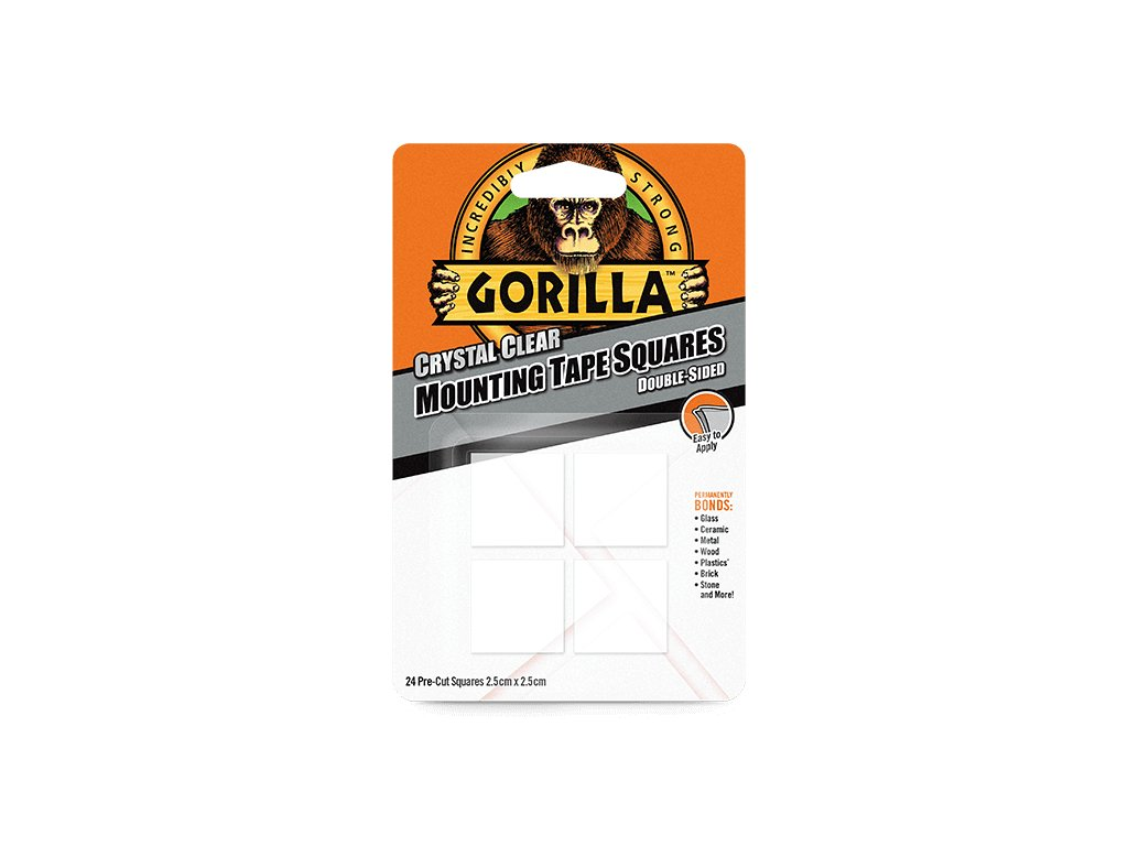 gorilla mounting tape clear 24pack