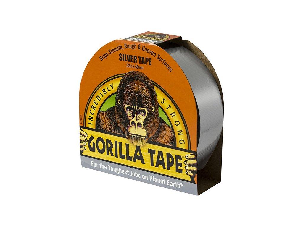 Gorilla Tape 48mm x 32m, lepicí páska stříbrná