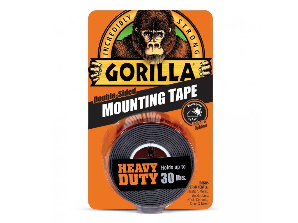 Gorilla Heavy Duty Mounting Tape 25,4mm x 1,52m, oboustranná lepicí páska černá