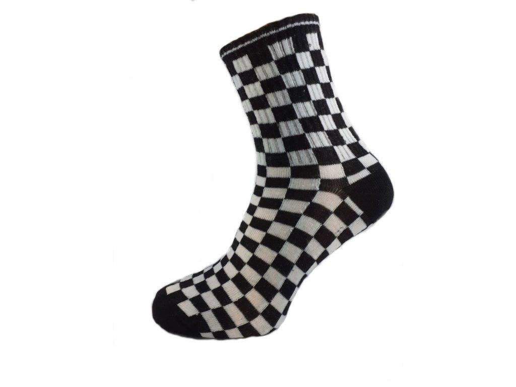 Ponožky kostka černá