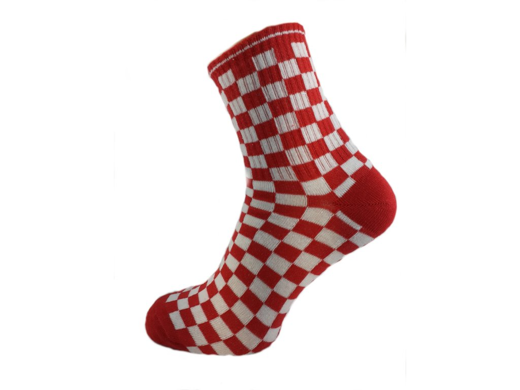 Ponožky kostka červená