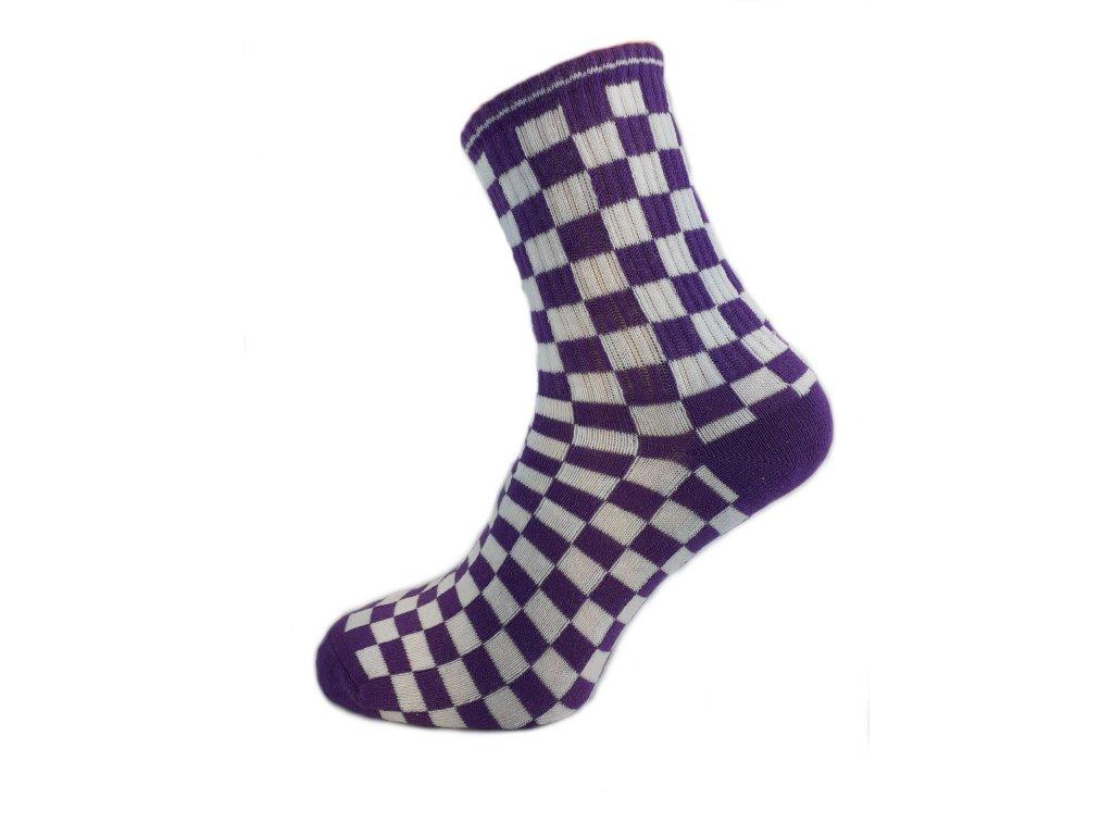 Ponožky kostka modrá