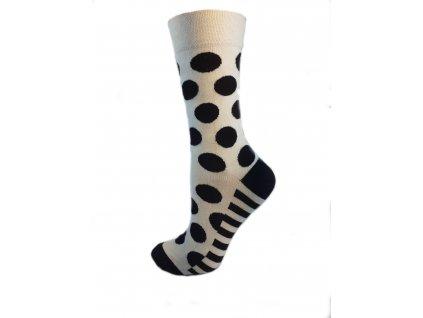 ponožky černý puntík