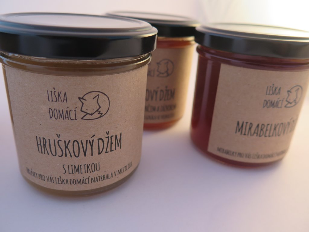 Liška Domácí  - Hruškový džem s limetkou/vanilkou