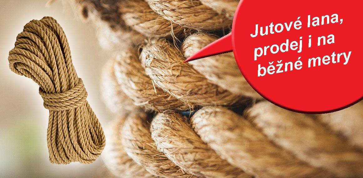 Jutové přírodní lana
