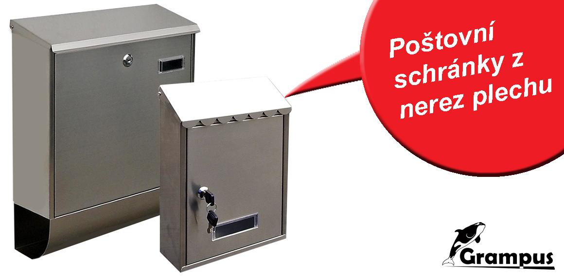 Poštovní nerezové schránky