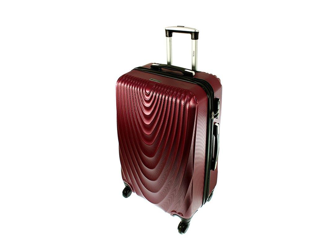 cestovni kufr na koleckach 663 ruzova stredni