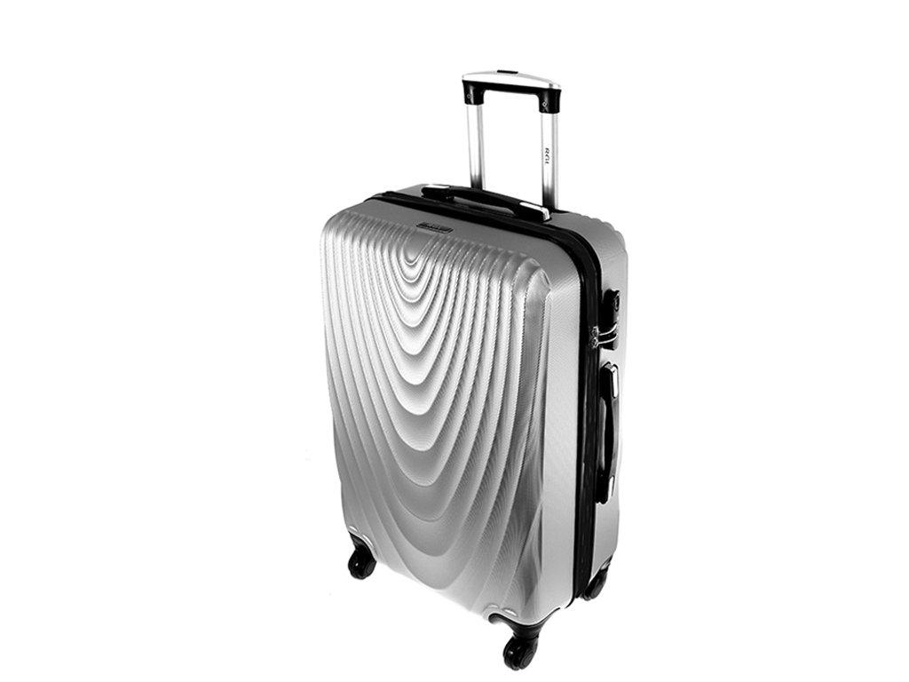 cestovni kufr na koleckach 663 stribrny stredni