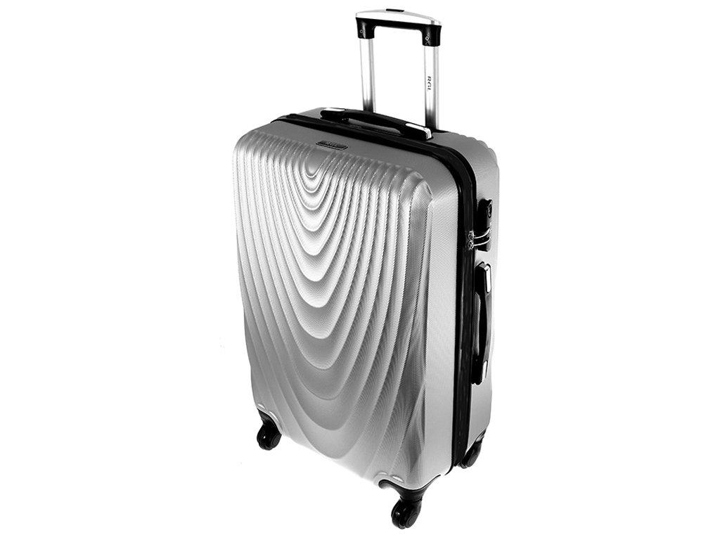 cestovni kufr na koleckach 663 stribrny velky