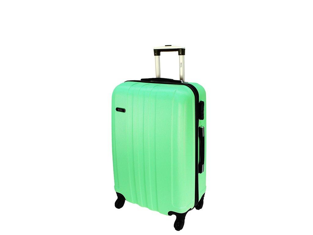 cestovni kufr na koleckach 740 3 svetle zeleny maly