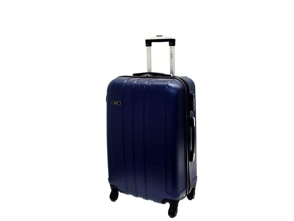 cestovni skorepinovy kufr na koleckach 740 3 tmave modry palubni maly