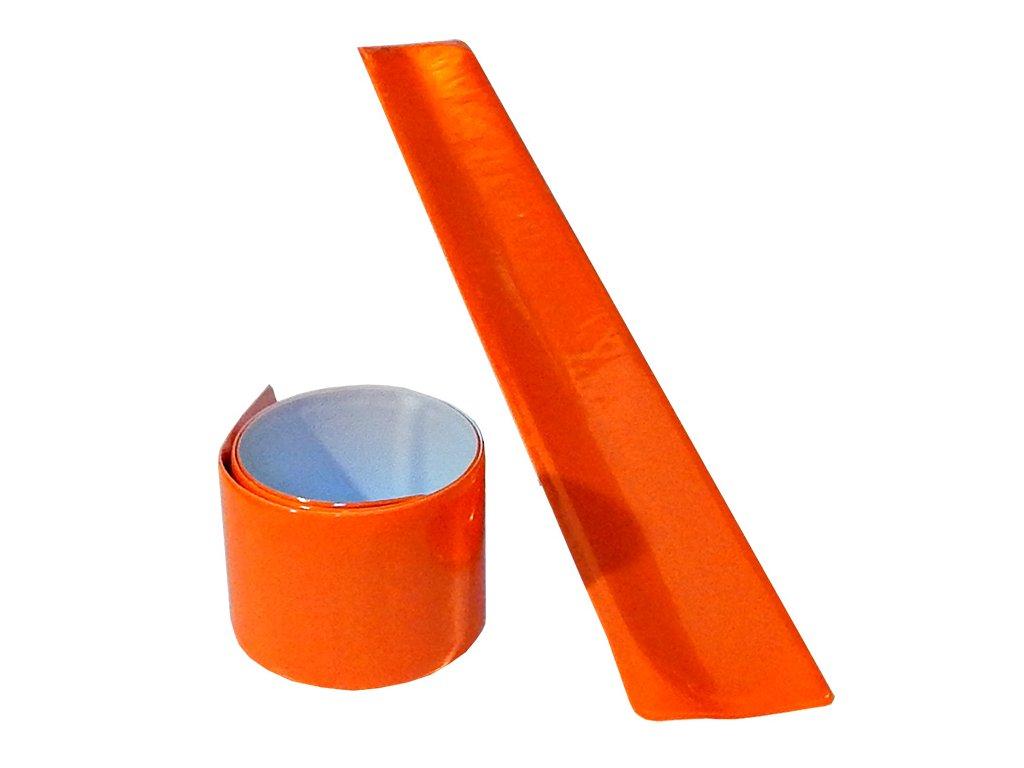 vyr 9734reflexni paska pro chodce oranzova