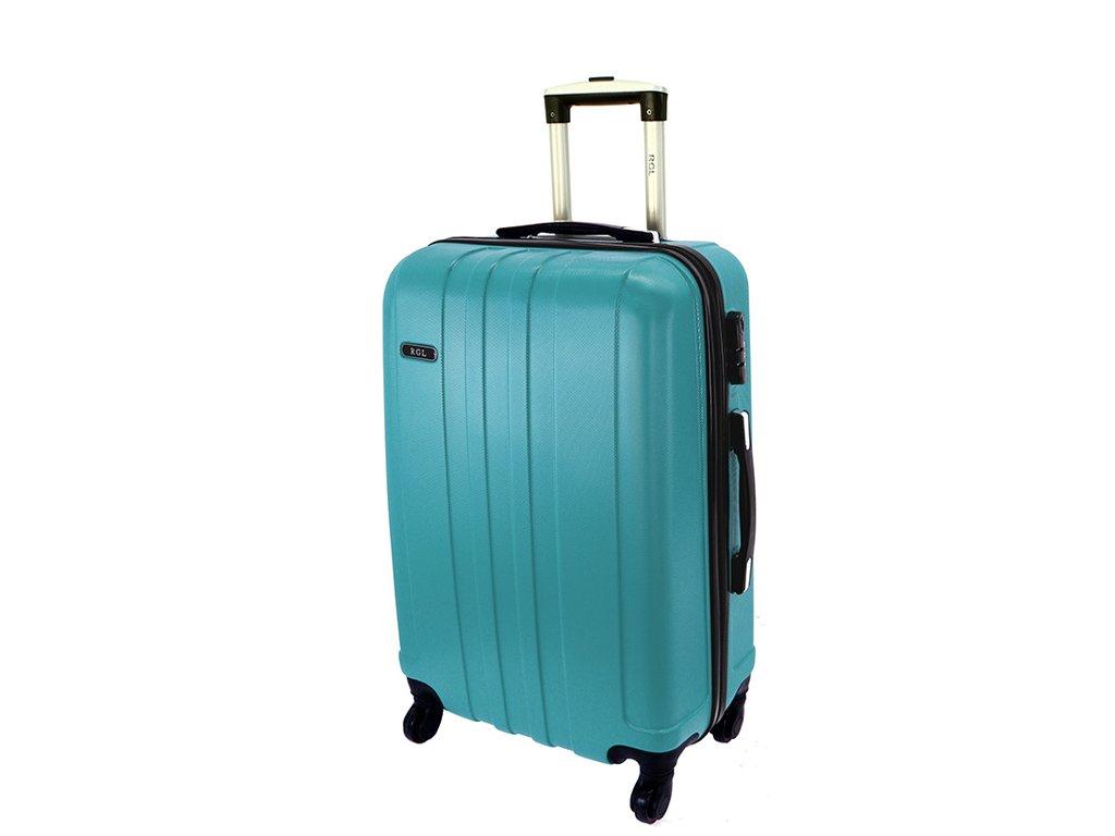 cestovni skorepinovy kufr na koleckach 740 3 metalicky modry palubni stredni