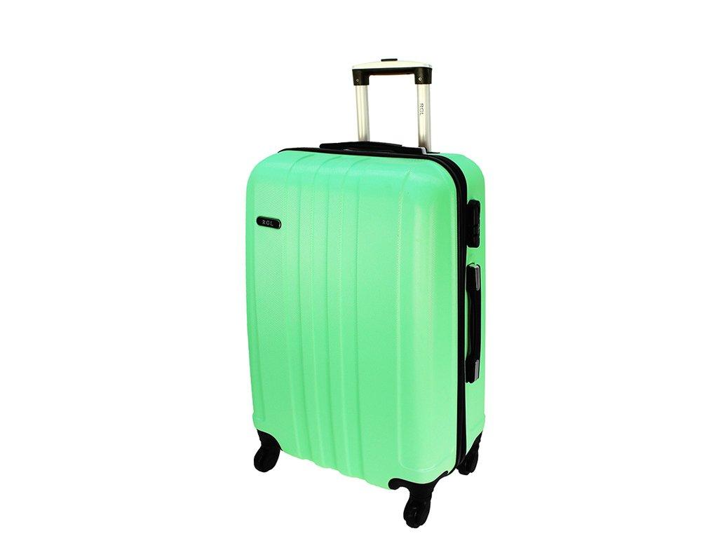 cestovni kufr na koleckach 740 3 svetle zeleny stredni