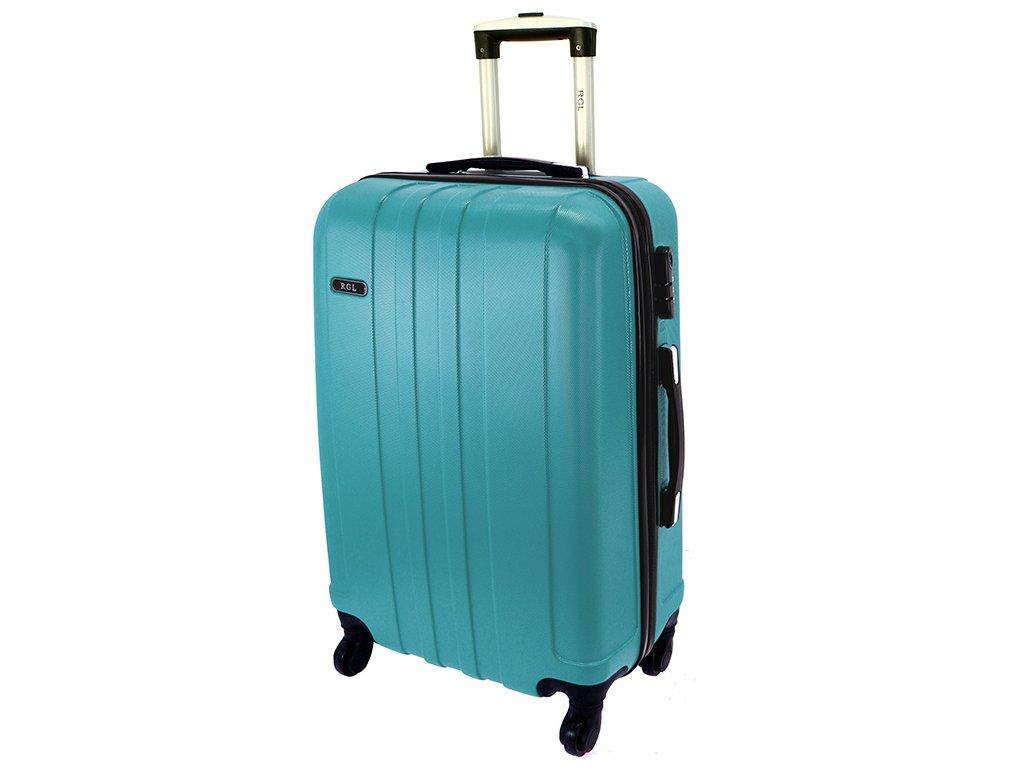 cestovni skorepinovy kufr na koleckach 740 3 metalicky modry palubni velky