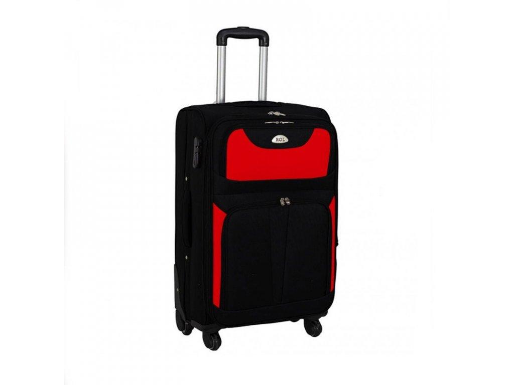 kufr latkovy s koleky cerveny stredni