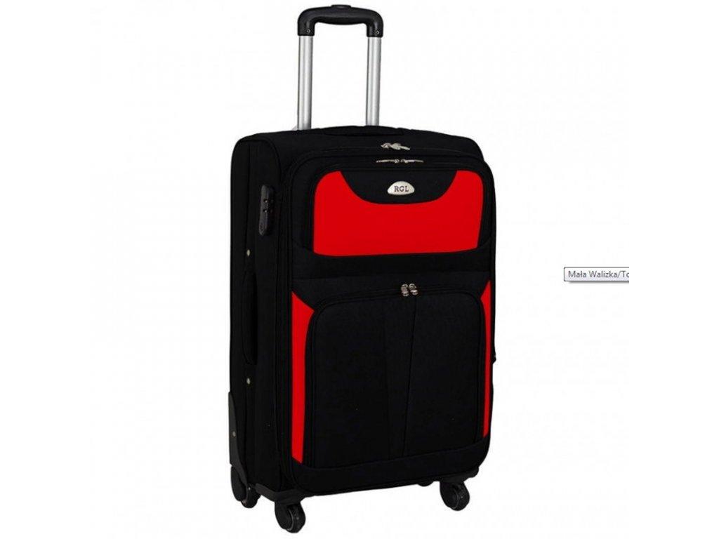 kufr latkovy s koleky cerveny velky