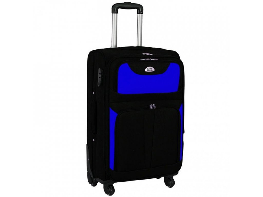 kufr latkovy s koleky modry velky