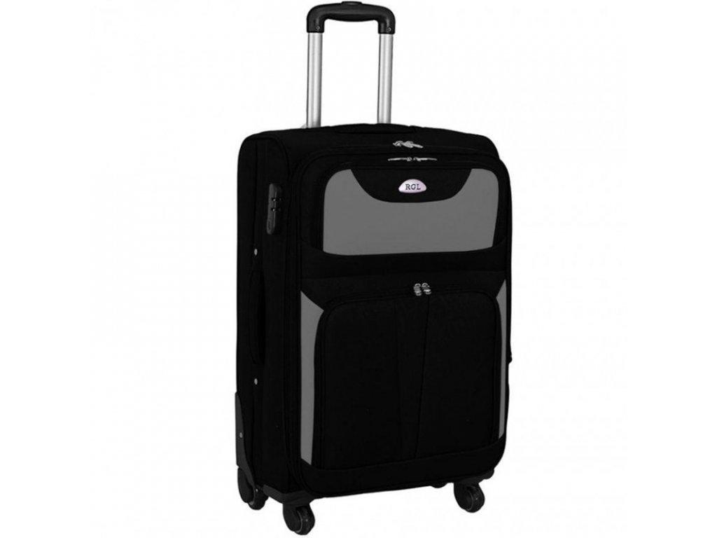 kufr latkovy s koleky sedy velky
