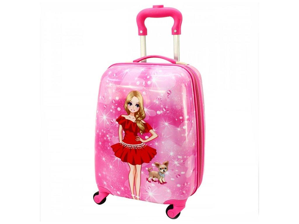 detsky kufr zavazadlo pro deti panenka s pejskem