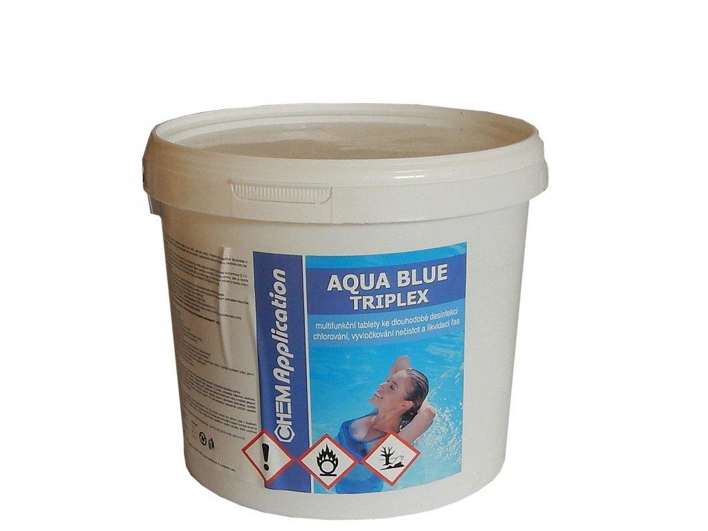 aqua blue triplex bazenova chemie chlor 3kg