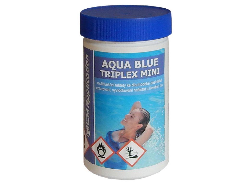 aqua blue triplex mini bazenova chemie chlor