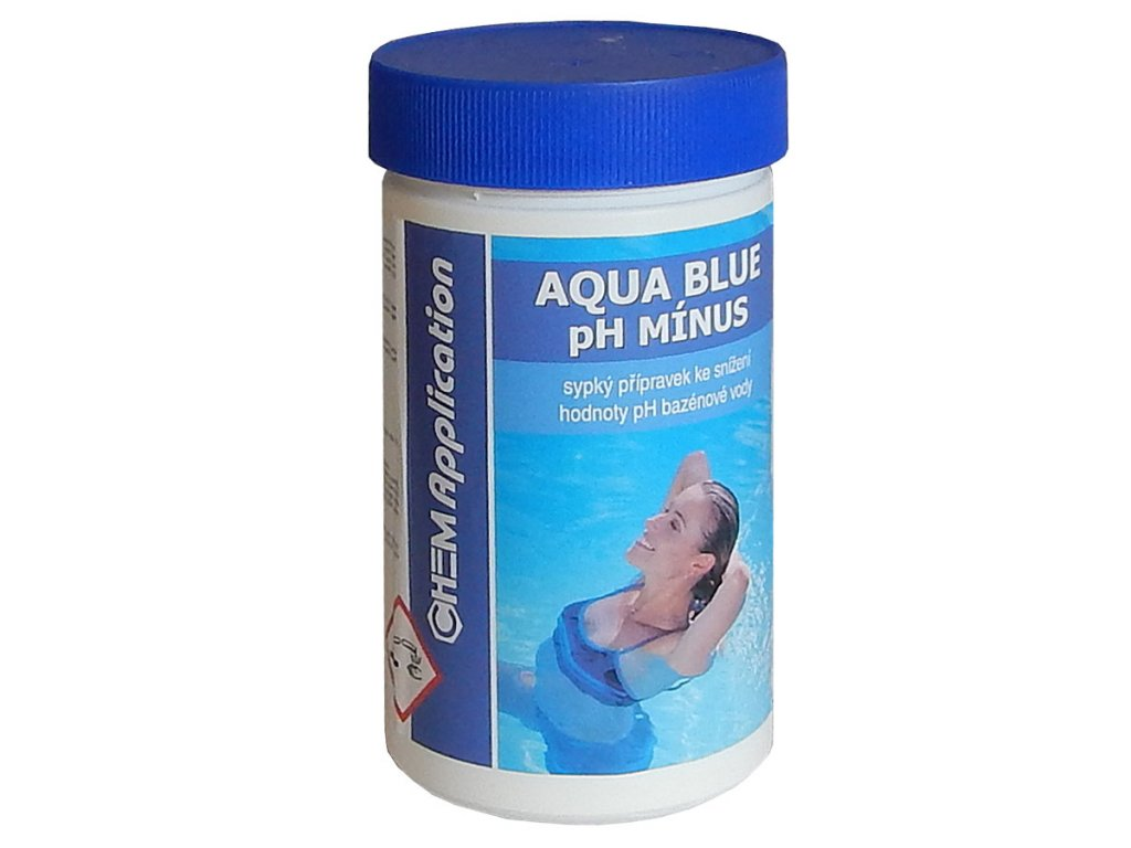 aqua blue ph minus bazenova chemie chlor