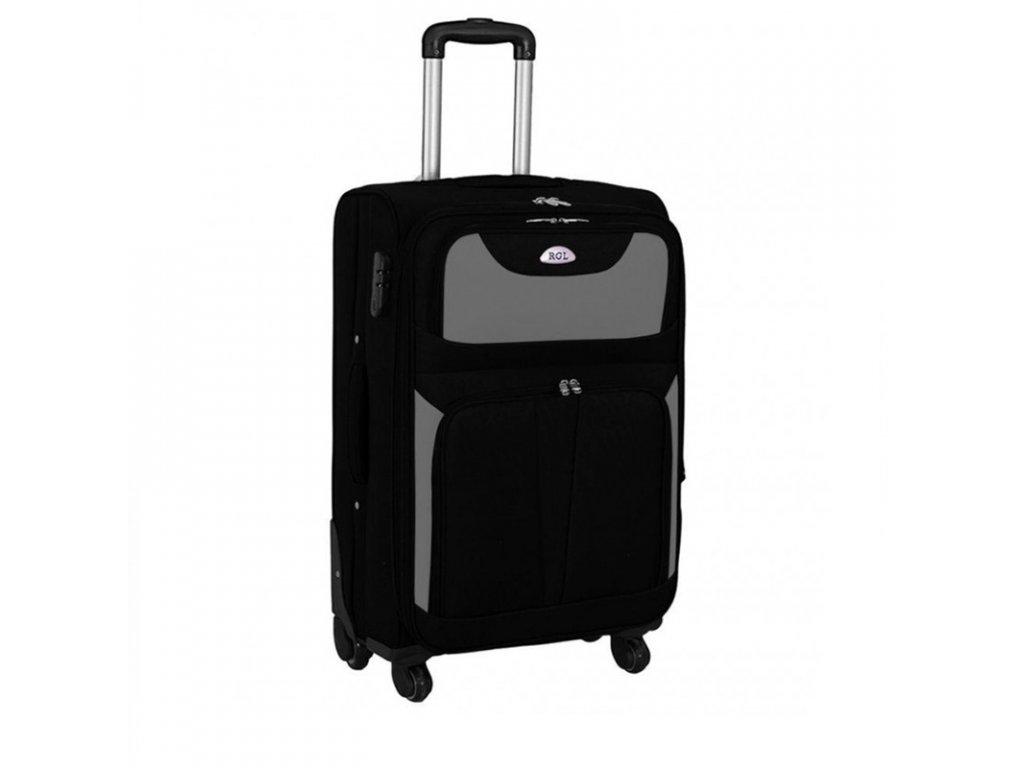 kufr latkovy s koleky sedy stredni