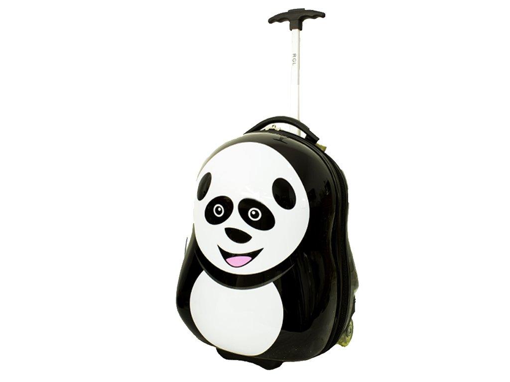 Detsky kufr na koleckach panda detail 2