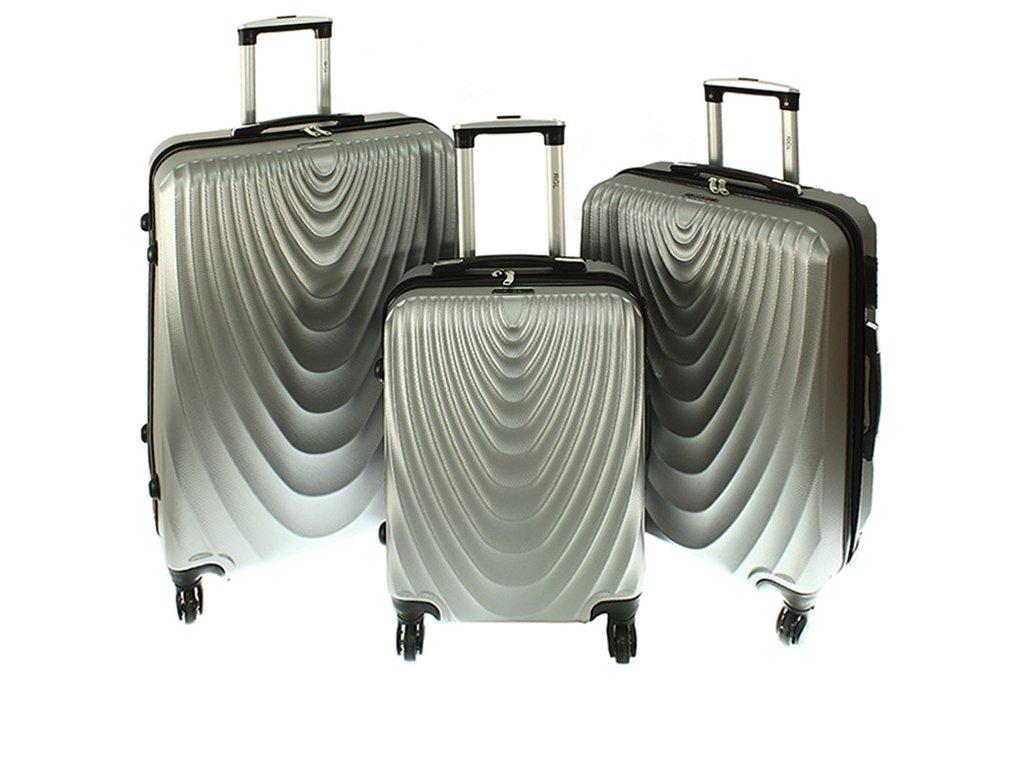 cestovni kufr na koleckach sada kufru 663 stribrny