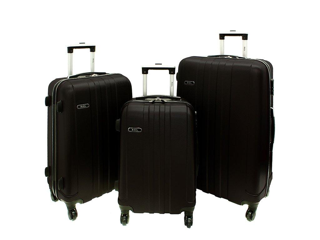 cestovni skorepinovy kufr na koleckach sada kufru 740 3 cerny