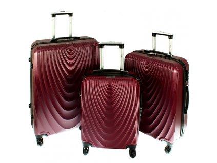 cestovni zavazadlo kufr na koleckach sada 3 ks kufru 663 ruzova