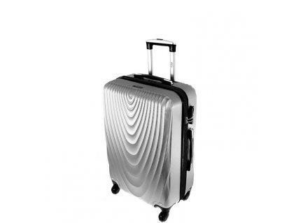 cestovni kufr na koleckach 663 stribrny maly