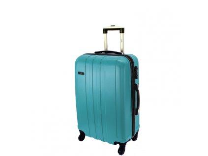 cestovni skorepinovy kufr na koleckach 740 3 metalicky modry palubni maly