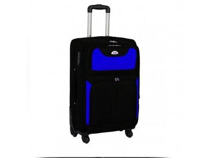 kufr latkovy s koleky modry stredni