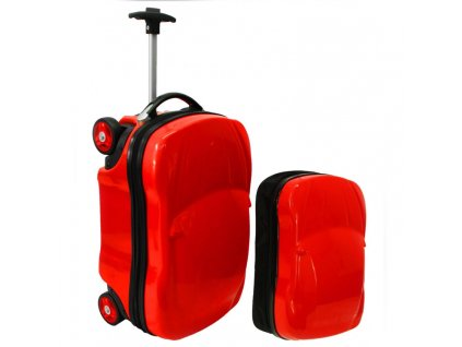 detsky kufr zavazadlo pro deti auticko cervene batoh zdarma