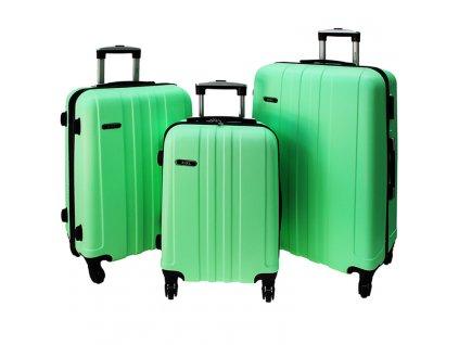 cestovni kufr na koleckach sada 740 3 svetle zeleny