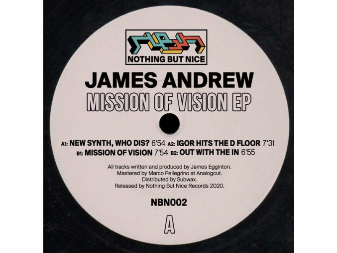 James Andrew ‎– Mission Of Vision EP