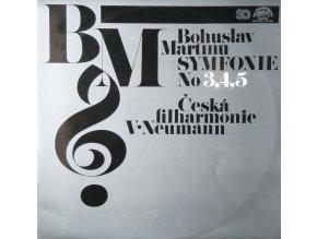 Bohuslav Martinů, Česká Filharmonie, V•Neumann – Symfonie No 3, 4, 5